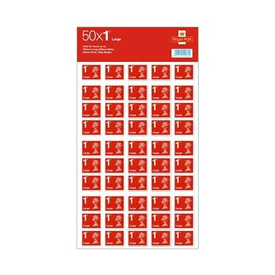 50 x Large Letter 1st Class Self-Adhesive Stamps Royal Mail (Free UK Post)