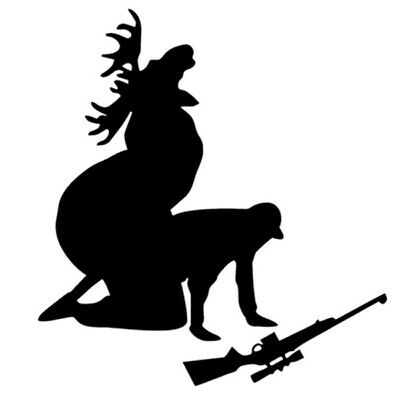 6D3F Car Sticker Moose Hunter How Ya Like My Meat Now Decal Decoration 15x14CM