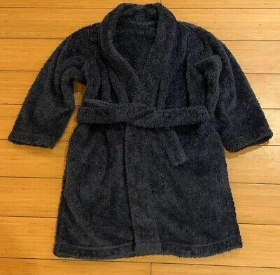 Marks & Spencer Navy Blue Boys Dressing Gown Age 4-5 Years
