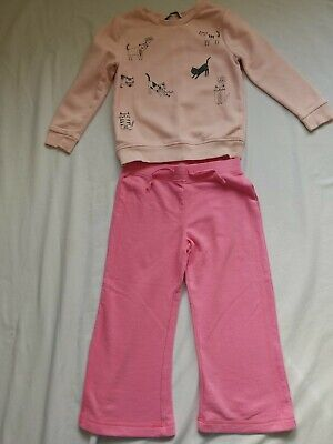 George girls jumper and joggers 3-4 yrs outfit set bundle