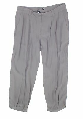 Eileen Fisher Women's Gray Size Large L Cropped Pants Silk Stretch $228- #642
