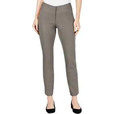 Alfani Womens Taupe Slim Straight Leg Tummy Control Dress Pants 16 BHFO 9494