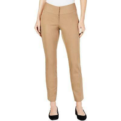 Alfani Womens Tan Slim Straight Leg Tummy Control Dress Pants 16 BHFO 5019