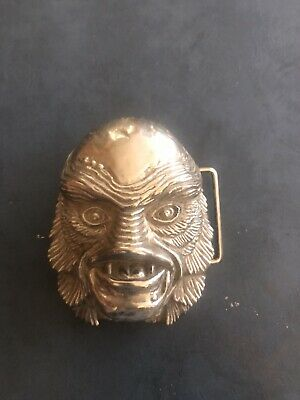 Creature From The Black Lagoon Belt Buckle Universal Studois Silver
