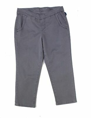Jag Jeans Women's Gray Size 12 Pull On Capris Cropped Pants Stretch $69 #970