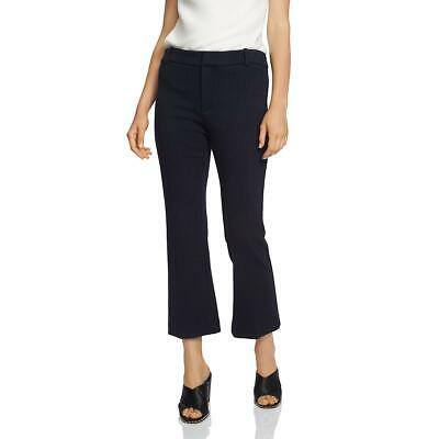 1.State Womens Navy Flare Pinstriped Crop Dress Pants 8 BHFO 4826