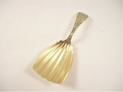 Antique Sterling Silver Tea Caddy Spoon/ Scoop, Gold Washed Bowl