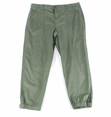 Style & Co. Women's Green Size 20W Plus Tapered Jogger Pants Stretch $59 #337