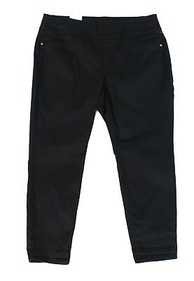 Style & Co. Women's Pants Black 24W Plus Ankle Tummy Control Stretch $56 #475