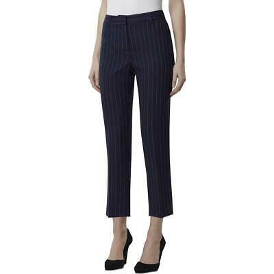 Tahari ASL Womens Navy High Rise Striped Suit Seperate Ankle Pants 16 BHFO 0952