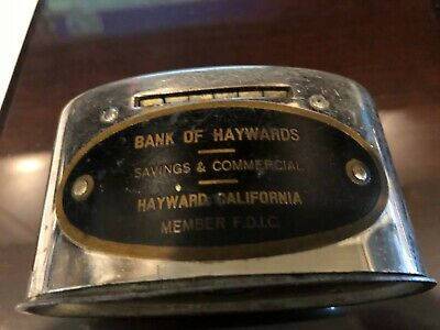 antique COIN BANK hayward Ca  FIRST STATE BANK still advertising stronghart 50's