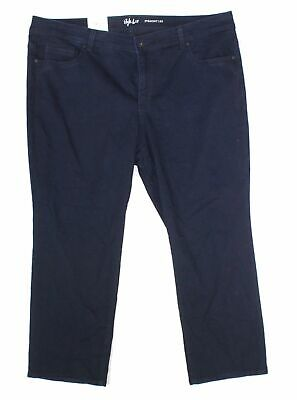 Style & Co. Women's Blue Size 16WP Plus Stretch Straight Leg Jeans $36 #122