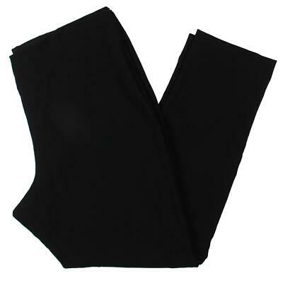 Tahari ASL Womens Black Straight Leg Dress Pants Trousers Plus 12 BHFO 2999