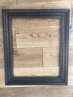 Antique Carved Oak Picture Frame 44.5x55.5cm Arts And Crafts