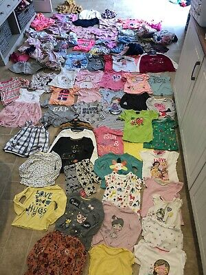 Masive Bundle Of Girls 3-4 Clothes Dresses Leggings Jumpers Tops Tu Gap Nutmeg