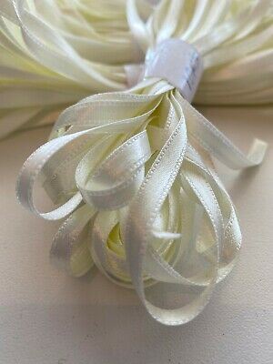 Double sided satin ribbon. 6 mm wide, Cream.10 Metres. Premium Quality