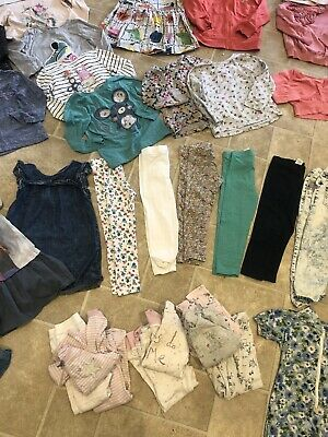 Large Next Girls Clothes Bundle Age 3-4 Dresses Hoodys Tops Jeans T Shirts Ditsy