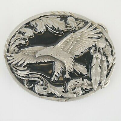 Siskiyou Flying Eagle Belt Buckle with feathers 1995 - NICE