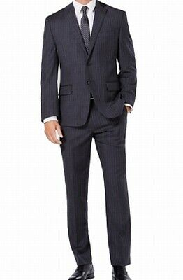 Michael Kors Mens Suit Gray Size 38 Regular Striped Two Button Wool $250- #058