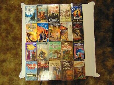 Science Fiction Fantasy Paperback Books Lot Of 20 Free Shipping #1 Sci Fi