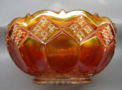 "Imperial THREE-IN-ONE Glowing Marigold Carnival Glass 7½"" Bowl 7360"