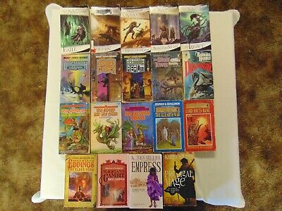 Science Fiction Fantasy Paperback Books Lot Of 19 Free Shipping #5 Sci Fi