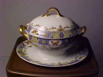 Limoges Child Size Toy Covered Tureen with Attached Liner