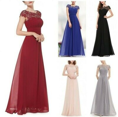 Women Lace Prom Evening Ball Gown Formal Dress Party Cocktail Wedding Bridesmaid
