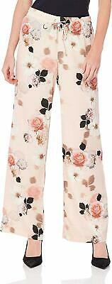 Calvin Klein Women's Pants Pink Size Small S Floral Printed Wide-Leg $79 #219