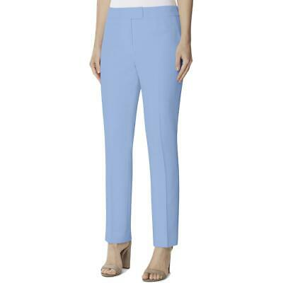 Tahari ASL Womens Blue Twill Ribbed Officew Dress Pants Trousers 16 BHFO 3534