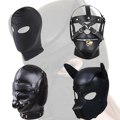 Dog Head Shape Rubber Mask Role playing obedient dog Training supplies headgear