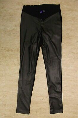 Seraphine Maternity Skinny Leather Look Leggings Size 8 BNWT