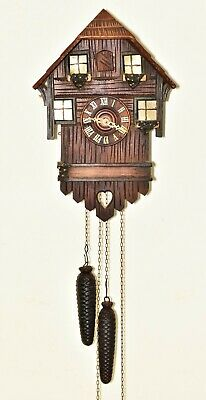 Vintage Black Forest Cuckoo Clock In  Working Order please read