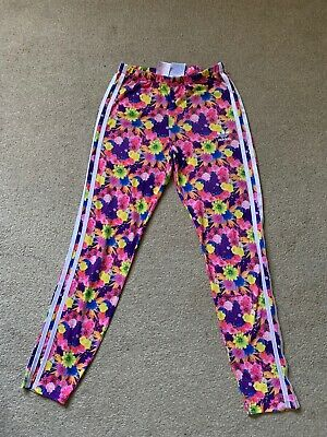 adidas leggings Girls Age 11-12 Yes Bright Flowery Print Good Condition