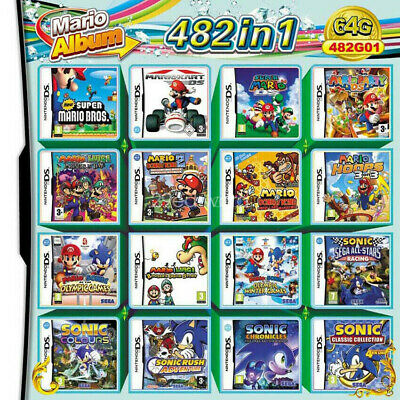 482 in1 Video Game NDS NDSL 2DS 3DS 3DSLL NDSI video game Super Mario cartridge