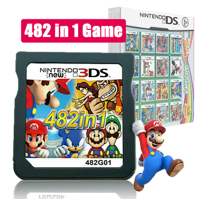 HOT 482 In 1 Cartridge Console Card NDS NDSL 2DS 3DS 3DSLL NDSI Video Game Card