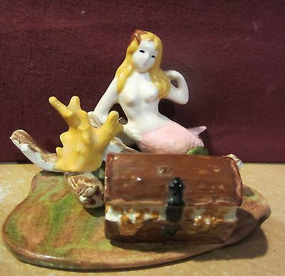 Mermaid Under The Sea With Reef And Treasure Chest Figurine