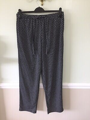 Black And White Casual Trousers