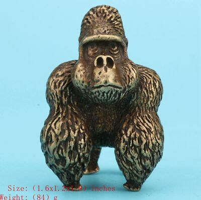 Chinese Bronze Statue Solid Gorilla Mascot Home Decoration Collection Gifts Old