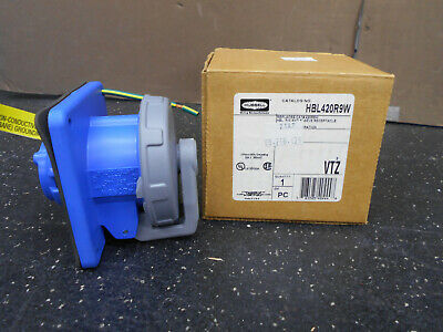 Hubbell Hbl420R9W 3 Pole 4-Wire 20A 3 Phase 250Vac 2Hp Pin And Sleeve Receptacle