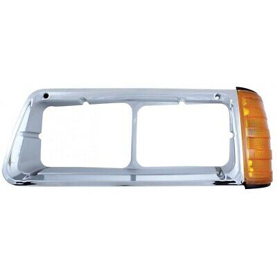 Led Freightliner Fld Headlight Bezel With Turn Signal - Driver Side