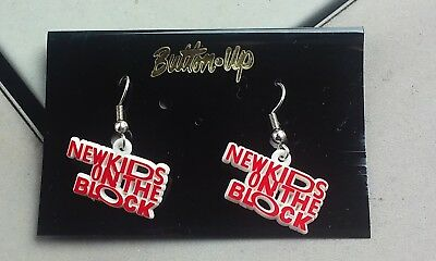 New Kids On The Block Earrings Red And White