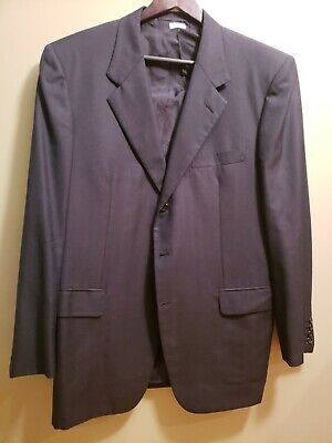 Mens Brioni Neiman Marcus Navy Blue Wool 2 Piece Suit 44R Made In Italy