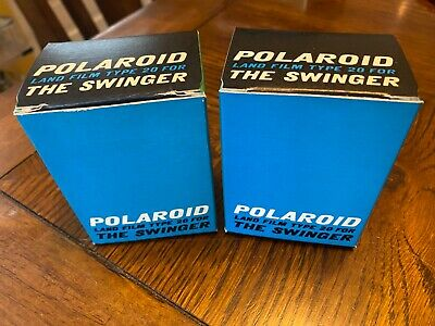 Polaroid Camera Land Film Type 20 for The Swinger 2 Unopened Packs 1968 2 Boxes