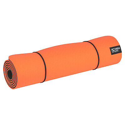 Mirafit TPE Non Slip Exercise Mat for Fitness/Yoga/Pilates Gym/Abs Floor Workout