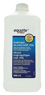 2 Pack Equate 70% Isopropyl Alcohol 32FL OZ Sealed New - SHIPS FAST