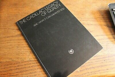 """1984 Cadillac """"Legacy of Quality"""" sales brochure, 9X12, 52 page bound booklet"""