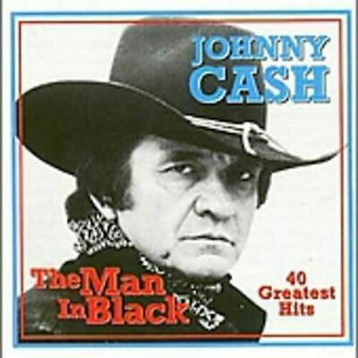 JOHNNY CASH The Man In Black 40 Greatest Hits 2 CD MINT RARE Import