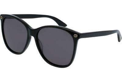 New Gucci Black Polarized Acetate Women's Sunglasses GG0024S-001