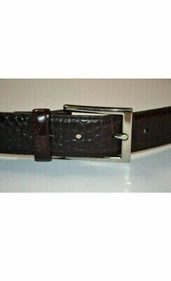 Brooks Brothers Black Pebble Grain Leather Belt with Silver Buckle size 38 Mens